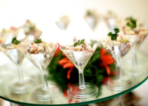Vegand Salad Buffet - Waldorf Salad in Martini Glasses 1